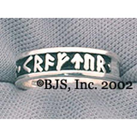 Silver Rune Ring Tofrar Kraftur
