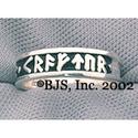 Tofrar Kraftur Silver Rune Ring