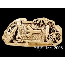 Gold Nidhogg & Jormungandr Rune Ring