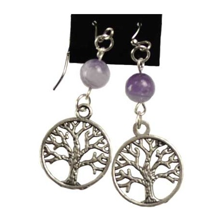 Amethyst Yggdrasil Earrings