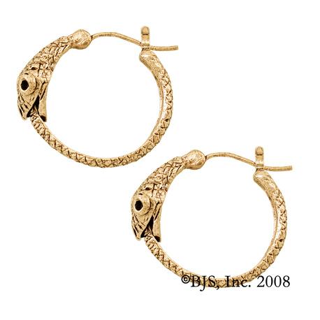 Gold Jormungandr Earring Single