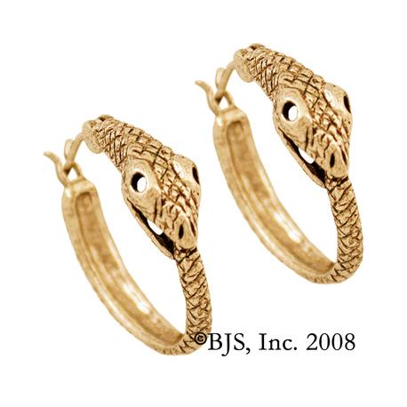 Gold Jormungandr Earrings