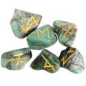 Emerald Elder Futhark Runes