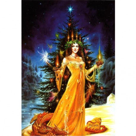 Lady of the Lights Briar Yule Card BY01