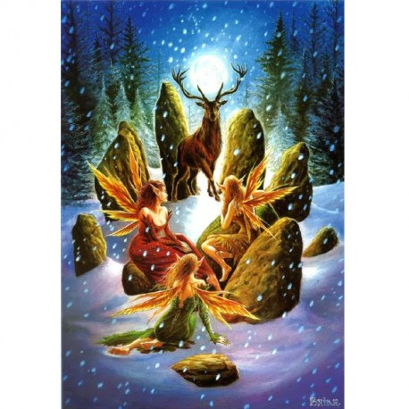 Yule Stag Briar Yule Card BY03