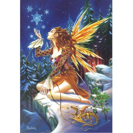 Yule Fairy Briar Yule Card BY05