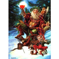 Festive Druid Briar Yule Card BY07