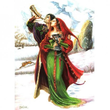 Welcoming Yule Briar Yule Card BY06