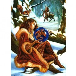Scrying the New Year Briar Yule Card BY08