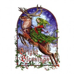 Bright Blessings Yule Card