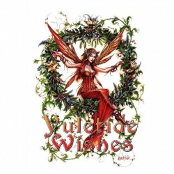 Mistletoe Fairy Briar Yule Card BY13