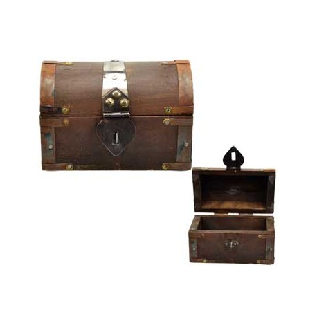 Large altar chest with metal latch closure. Box measures five by three and 1/2 inches.