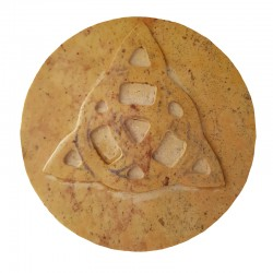 Soapstone Altar Tile with Triquetra Design