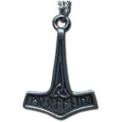 Runic Mjollnir Pewter Thor's Hammer Pendant