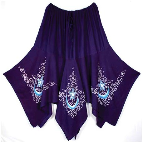 Purple Celtic Moon Skirt
