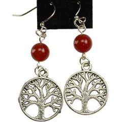 Gemstone Yggdrasil Earrings