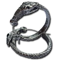 Silver Jormungandr Earring Pair