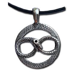 Silver Jormungandr Pendant
