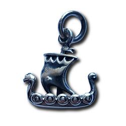 Silver Longboat Charm