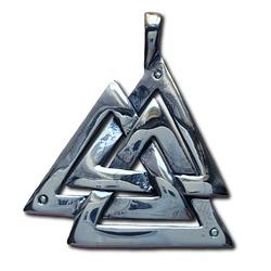 Silver Valknut Pendant
