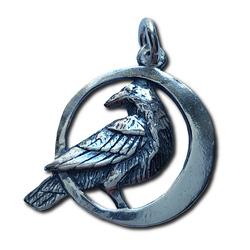 Silver Raven Pendant