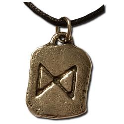 Rustic Dagaz Pewter Rune Pendant