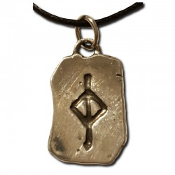 Rustic Jera Pewter Rune Pendant