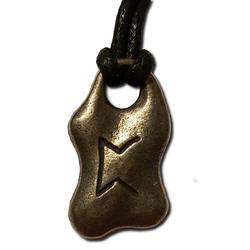 Peorth Pewter Rune Pendant