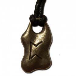 Pertho Pewter Rune Pendant