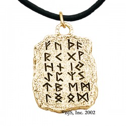 Gold Rune Tablet Pendant
