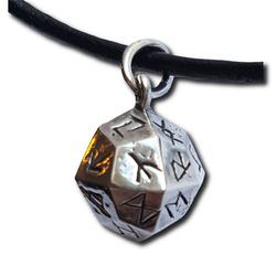 Rune Dice Silver Rune Pendant