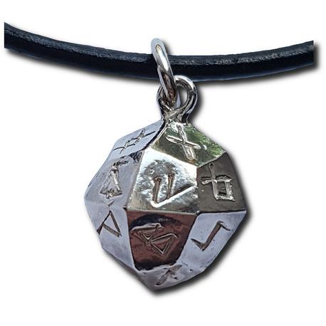 Silver Rune Dice Pendant Plain