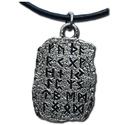 Silver Rune Tablet Pendant