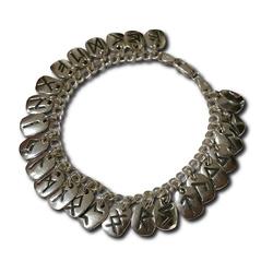 Silver Rune Charm Bracelet