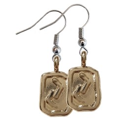 Jera Silver Rune Earrings