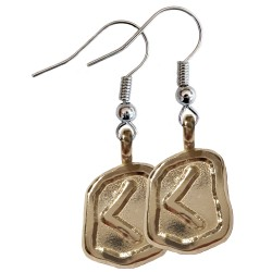 Kennaz Silver Rune Earrings