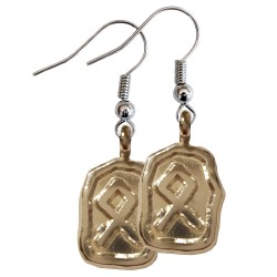 Othila Silver Rune Earrings