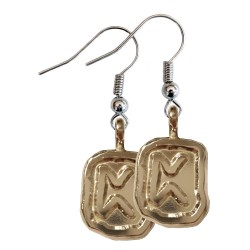 Pertho Silver Rune Earrings