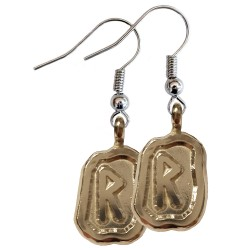 Raido Silver Rune Earrings
