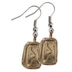 Thurisaz Silver Rune Earrings