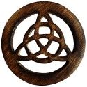 Wooden Triquetra Altar Tile
