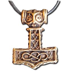 Bronze Infinity Knotwork Thor's Hammer Pendant