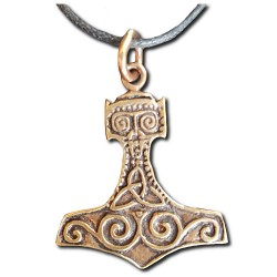 Bronze Triquetra Thor's Hammer Pendant