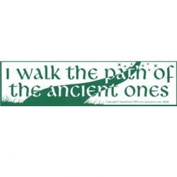 I Walk The Path Bumper Sticker