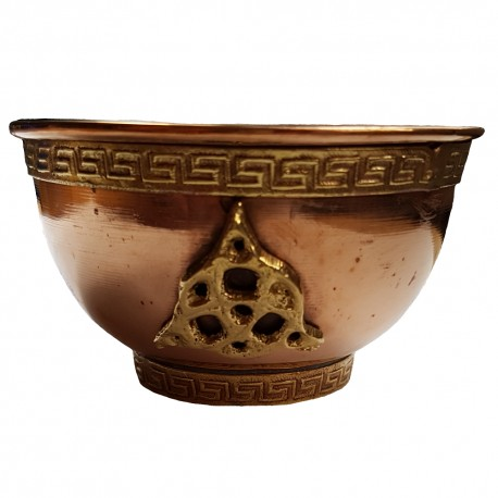 Copper Triquetra Offering Bowl