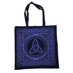 Purple Triquetra Tote Bag