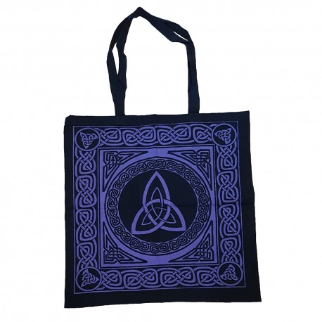 Purple Triquetra Tote Bag