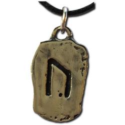 Rustic Uruz Pewter Rune Pendant