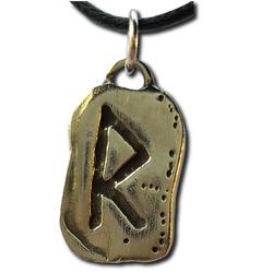Rustic Raido Pewter Rune Pendant