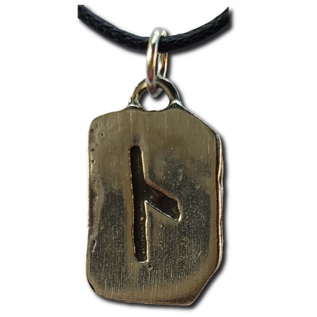 Rustic Kennaz Rune Pendant